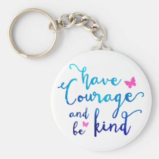 Kurage & vänlighet Keychain Rund Nyckelring