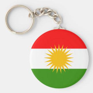Kurdistanflagga Rund Nyckelring