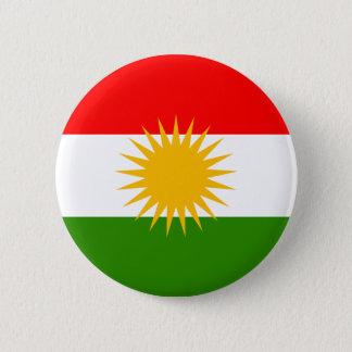 Kurdistanflagga Standard Knapp Rund 5.7 Cm