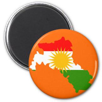 Kurdistanflaggakarta Magnet
