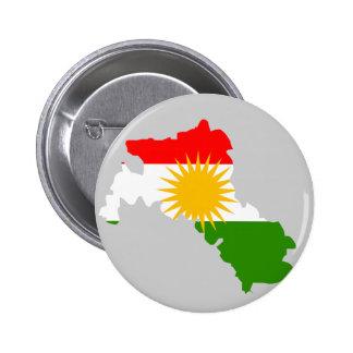 Kurdistanflaggakarta Standard Knapp Rund 5.7 Cm