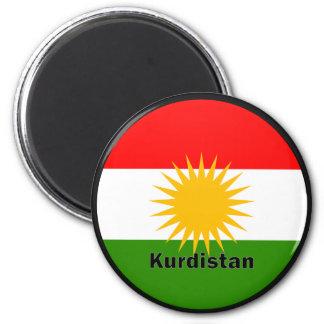 KurdistanRoundel kvalitets- flagga Magneter För Kylskåp