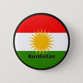 KurdistanRoundel kvalitets- flagga Standard Knapp Rund 5.7 Cm