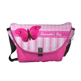 Kuriren för rickshawen för den rosa Argyle Kurir Väskor