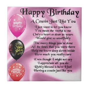 grattis på födelsedagen kusin Rosa Födelsedag För Kusin Heminredning | Zazzle.se grattis på födelsedagen kusin