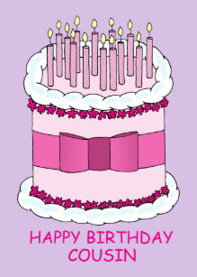 grattis på födelsedagen kusin Rosa Födelsedag För Kusin Presenter   Zazzle.se grattis på födelsedagen kusin