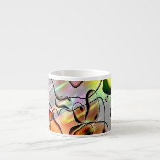 Kuslig abstrakt espressomugg