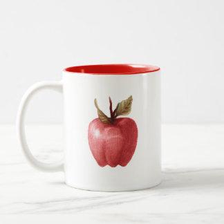 kuslig äpplemugg för teckning Två-Tonad mugg