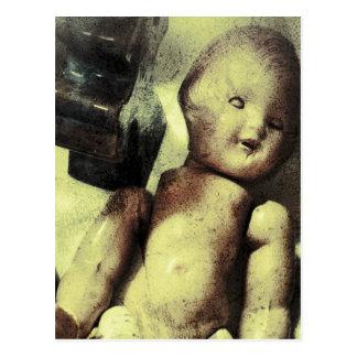 Kuslig docka vykort