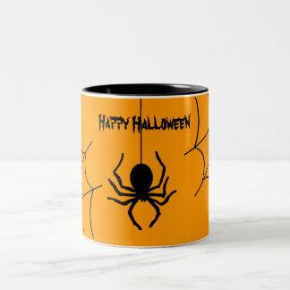 Kuslig kuslig mugg för spindelHalloween kaffe