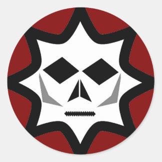 Kuslig logotyp runt klistermärke