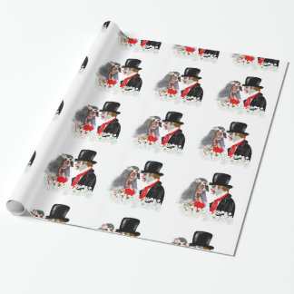 Kuslig sjal för Zombiebrud- och brudgumbröllopgåva Presentpapper