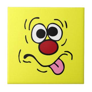 Kuslig smiley face Grumpey Liten Kakelplatta