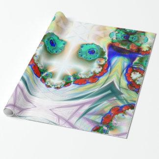 Kuslig snögubbe som ler slå in papper presentpapper