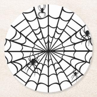 Kuslig spindelnät underlägg papper rund