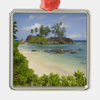 Kust- beskåda på den Mahe ön Julgransprydnad Metall