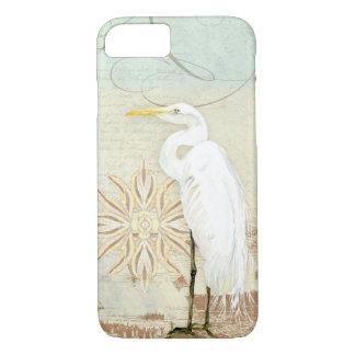 Kust för nautisk Egret för konst för strandfåglar