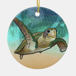 Kust- havssköldpadda av Atlanten Julgransprydnad Keramik