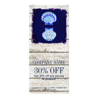 kust- kalkade wood nautiska blåttsnäckskal reklamkort