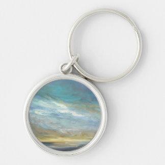 Kust- moln rund silverfärgad nyckelring