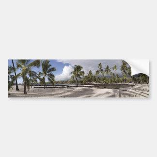 Kust- panorama för stor öHawaii tropisk strand Bildekal