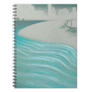 Kust- stad anteckningsbok med spiral