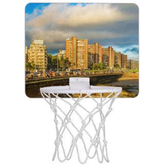 Kust- stads- plats, Montevideo, Uruguay Mini-Basketkorg