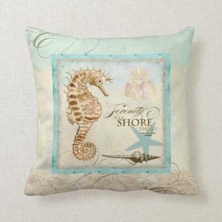 Kust- strand för havshäst - den hem- dekoren kudde