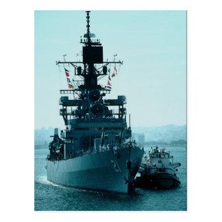 """Kustbevakningkryssaren för USS Gridley"""" förbereder Vykort"""