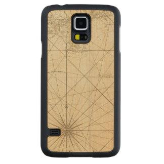 Kusten av västra Florida och Louisiana Carved Lönn Galaxy S5 Slim Skal