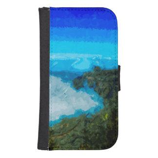 Kusten för Kauai Na Pali från Koke'e abstrakt Galaxy S4 Plånboksfodral