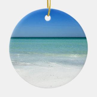 Kusten för Siestastrandbukt Julgransprydnad Keramik