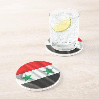 Kustfartyg för drink för Syrien flaggasandsten Underlägg