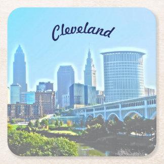 Kustfartyg för papper för Cleveland blåttmorgon Underlägg Papper Kvadrat