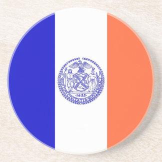 Kustfartyg med flagga av New York, USA Underlägg Sandsten
