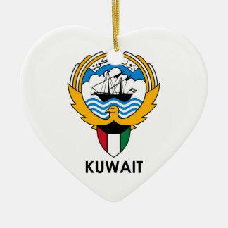 KUWAIT - emblem/flagga/vapensköld/symbol Julgransprydnad Keramik