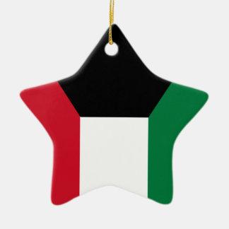 Kuwait flagga julgransprydnad keramik