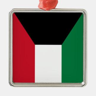 Kuwait flagga julgransprydnad metall