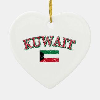 Kuwait fotbolldesign julgransprydnad keramik