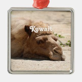 Kuwait kamel julgransprydnad metall