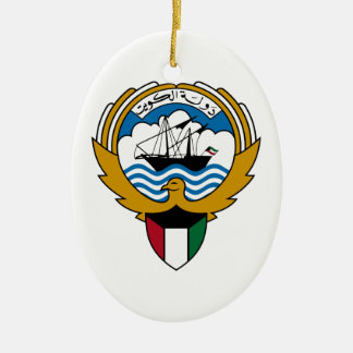 Kuwait medborgareEmblem Julgransprydnad Keramik