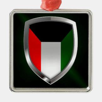 Kuwait metallisk Emblem Julgransprydnad Metall