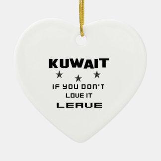 Kuwait, om du inte älskar det, lämna julgransprydnad keramik