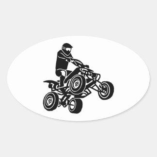 Kvadrat ATV Ovalt Klistermärke