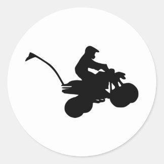 Kvadrat - ATV Runt Klistermärke