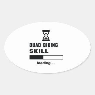 Kvadrat som cyklar expertis som laddar ...... ovalt klistermärke