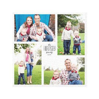 Kvadrera beställnings- kanfas för familjen 4-Photo Canvastryck