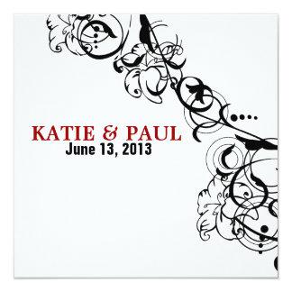 Kvadrera bröllopinbjudningar fyrkantigt 13,3 cm inbjudningskort