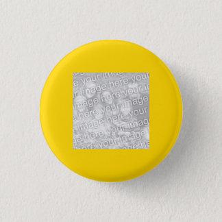 Kvadrera det guld- gränsfotoet mini knapp rund 3.2 cm
