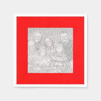 Kvadrera det röda gränsfotoet pappersservett